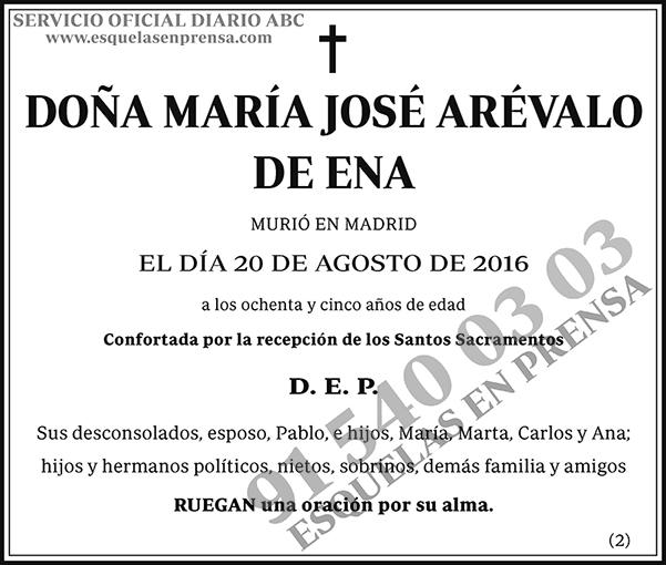 María José Arévalo de Ena